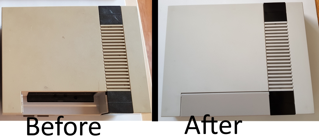 compare old NAS case with restored NES case