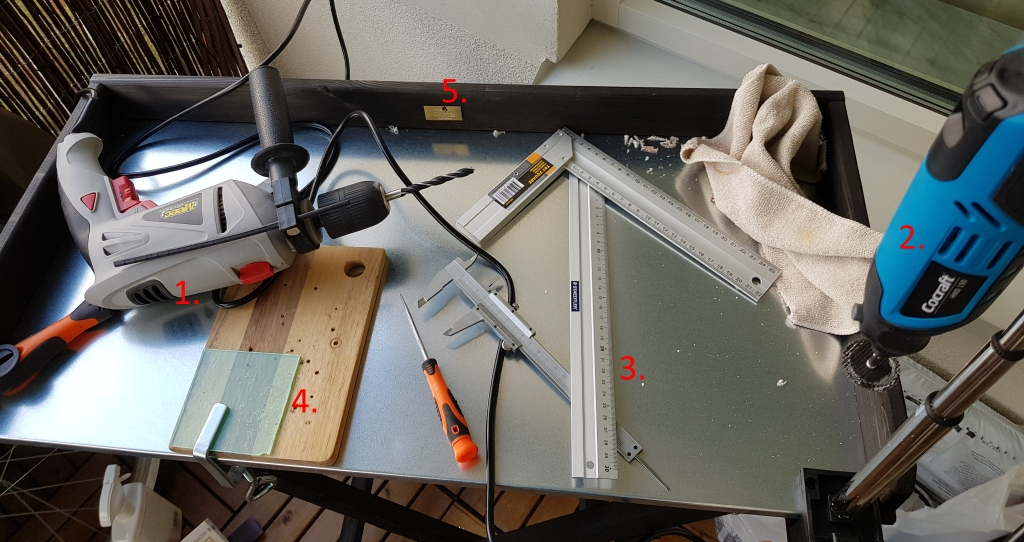 workspace for cutting and drilling