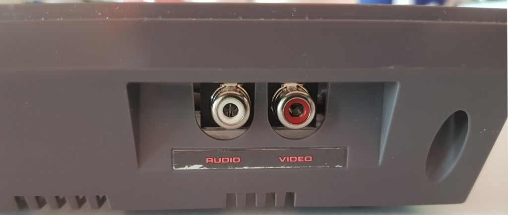 New RCA output viewed from the side