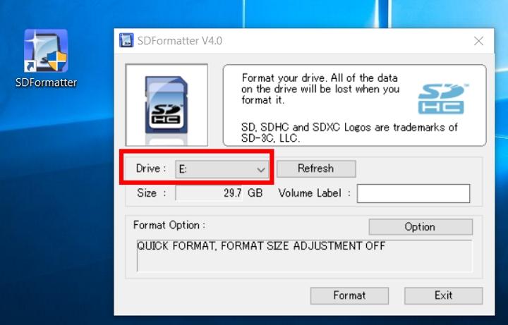 SDFormatterV4 GUI