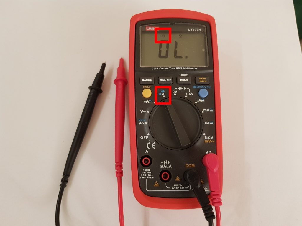 continuity test with multimeter