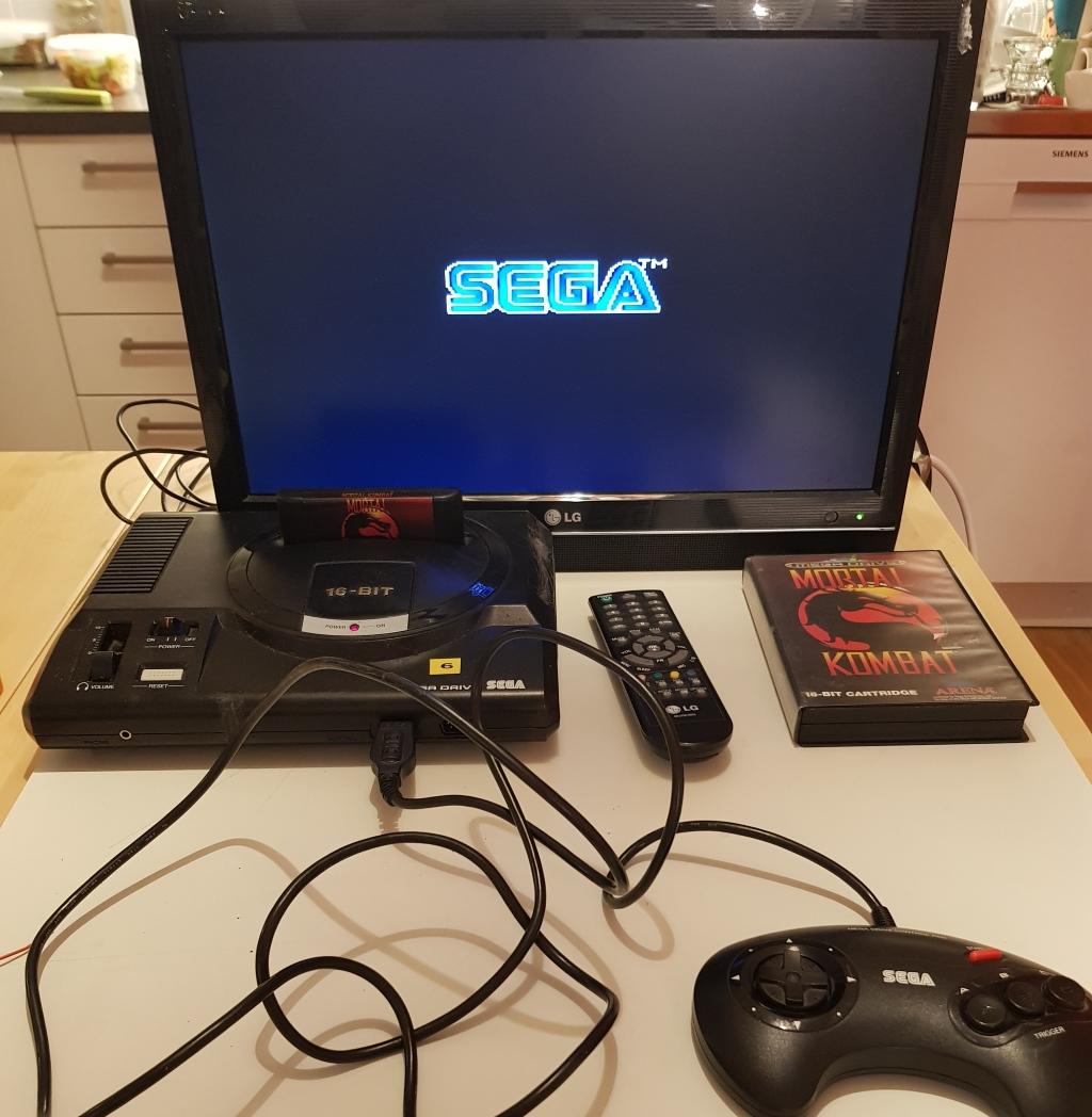 Testing a Sega Mega Drive Game