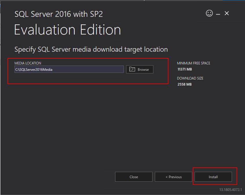 download location sql server 2016