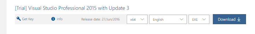 download Visual Studio 2015