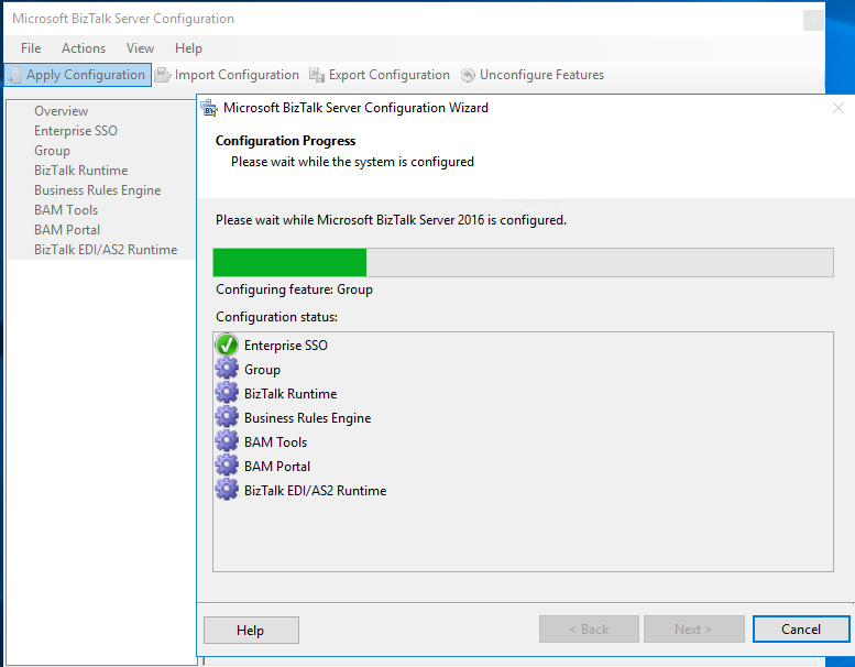 installing configurations