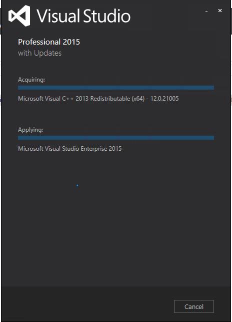 installing VS2015
