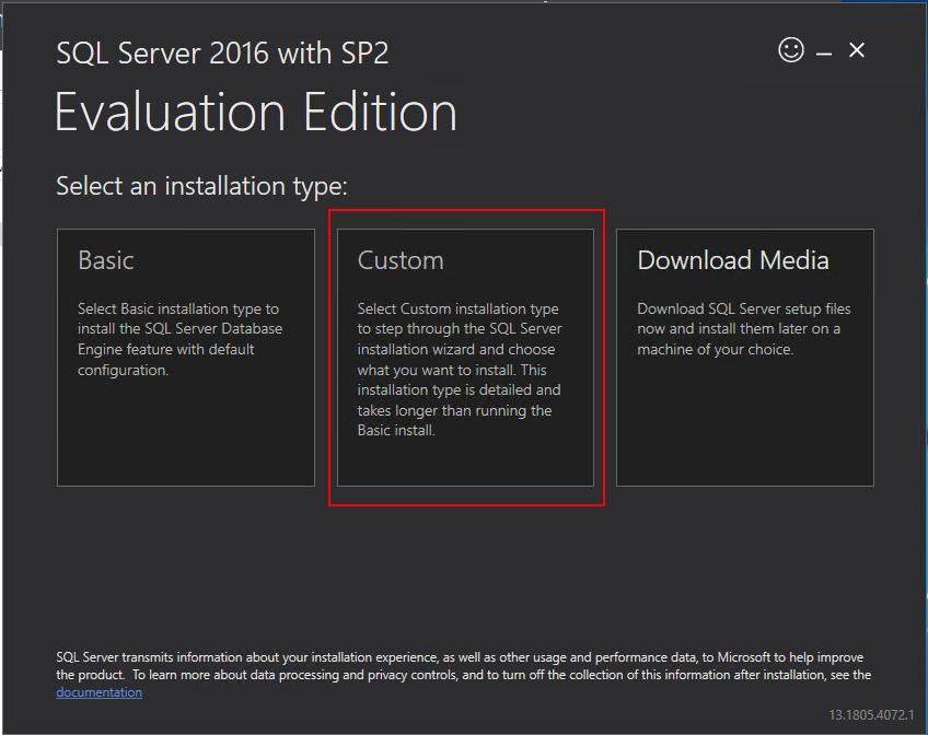 sql server custom download