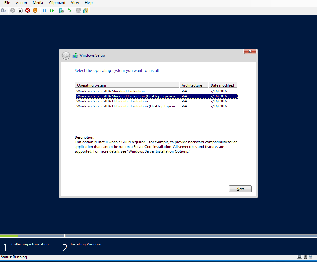 install OS (type)