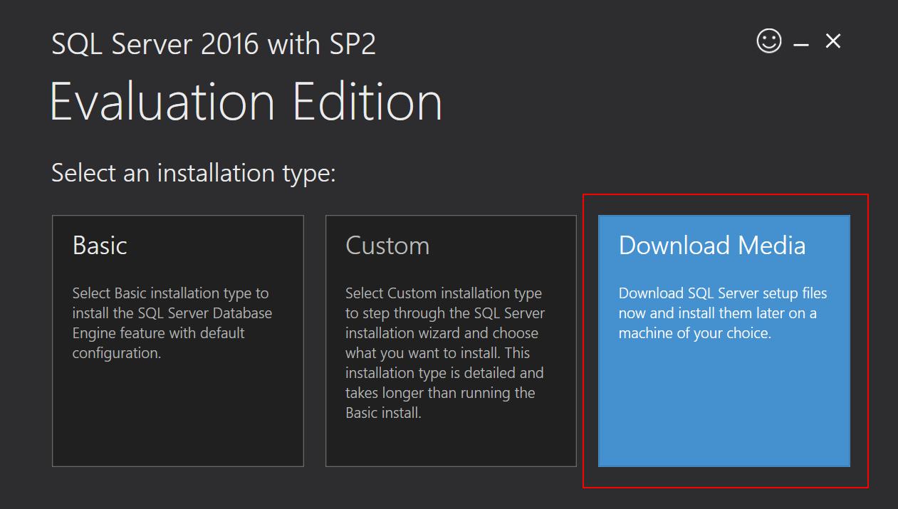 Download SQL Media
