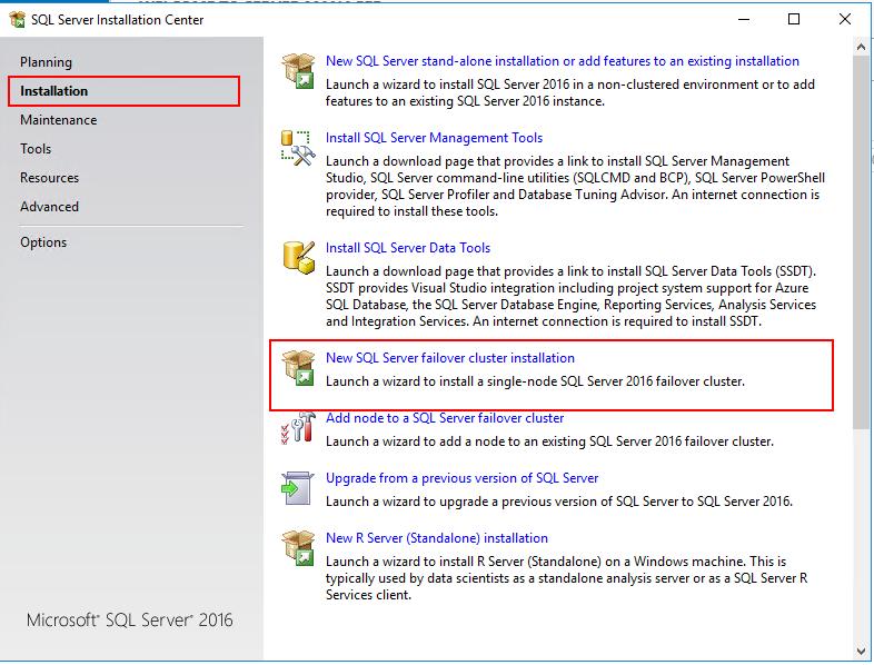 New SQL Server failover...