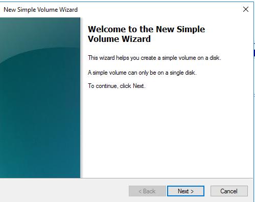 Simple Volume Wizard