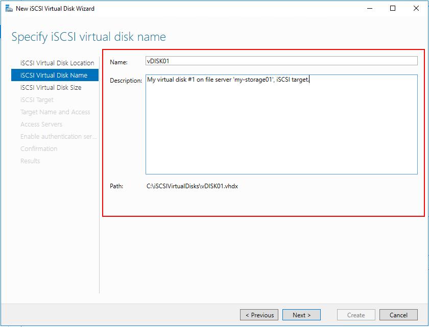 disk name