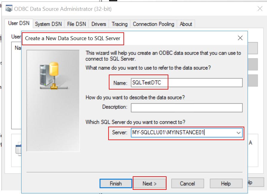 SQL name ODBC