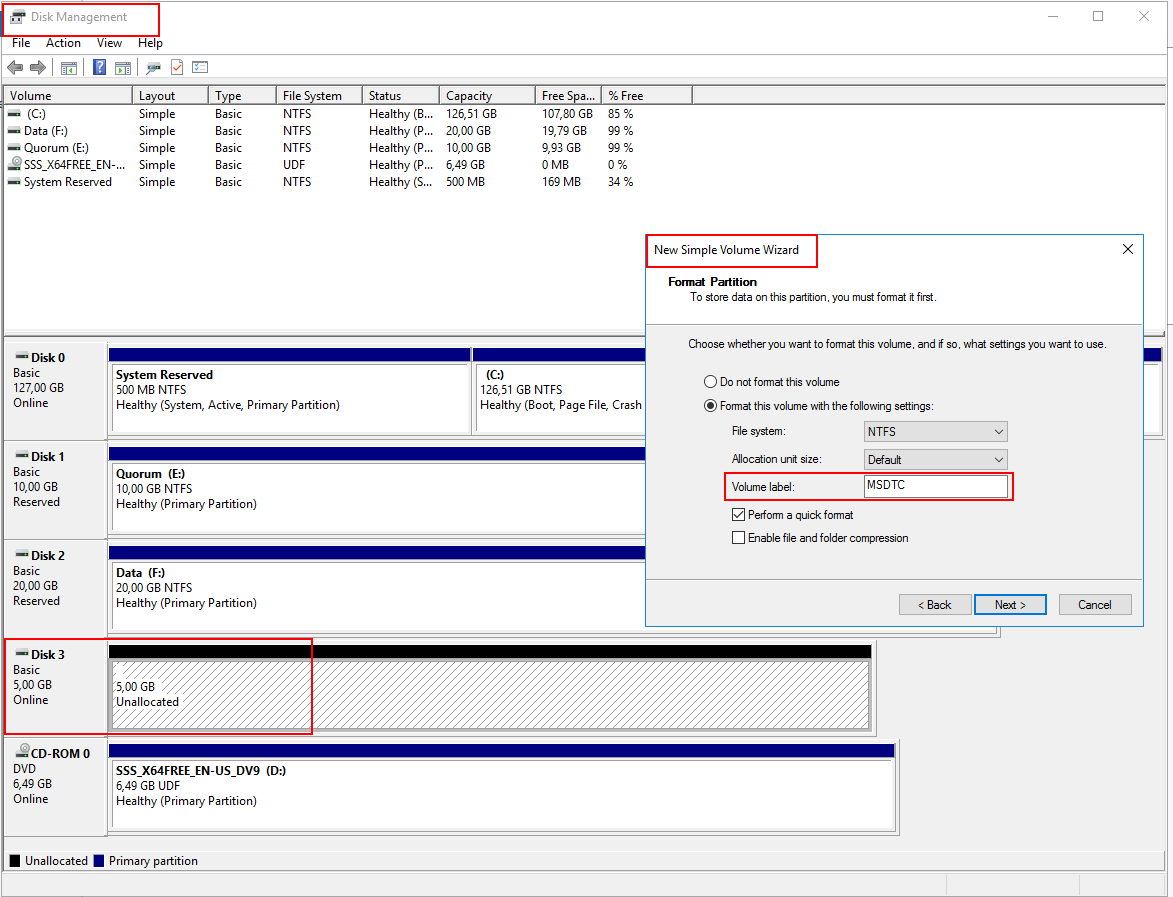 disk management configure