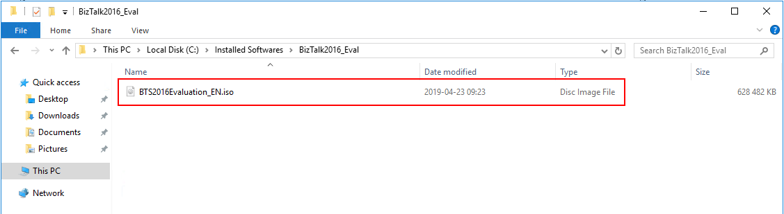 iso file biztalk evaluation