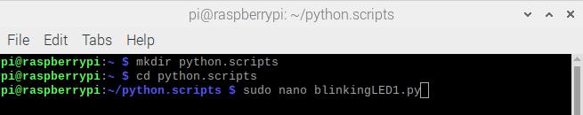 open nano editor