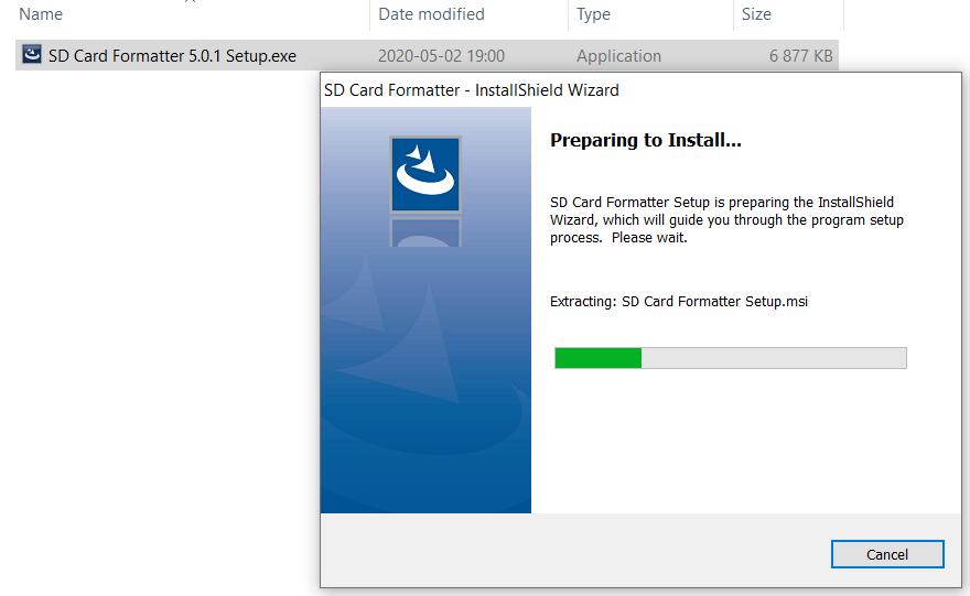 Install SD Formatter