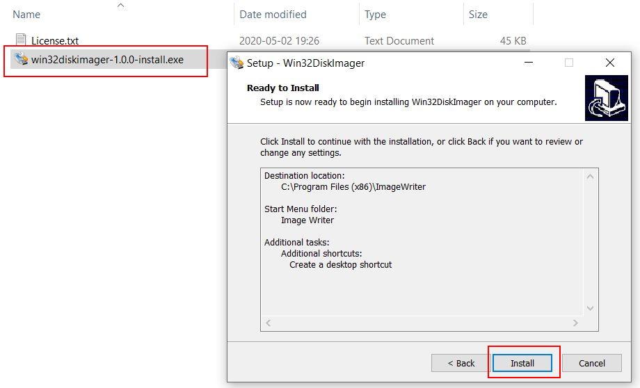 Install Win32DiskImager
