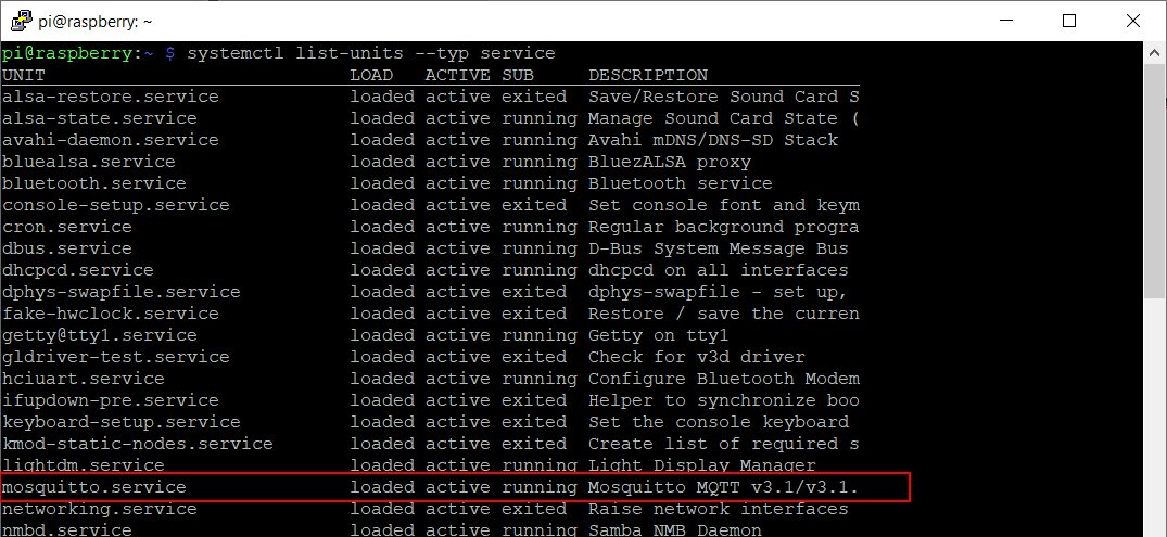list alla services linux systemctl