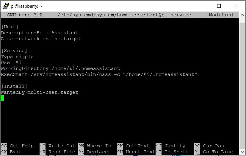 linux service configuration
