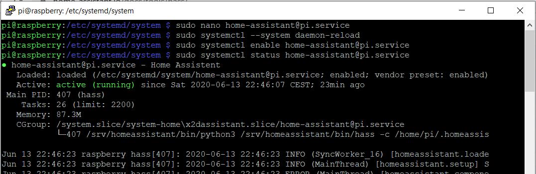 status service linux