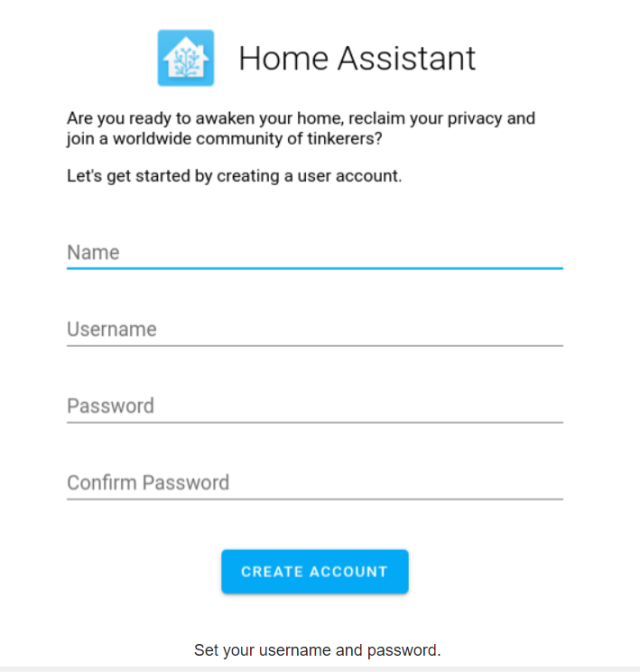 add account home assistant