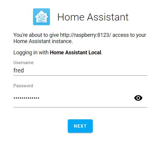 login home assistant